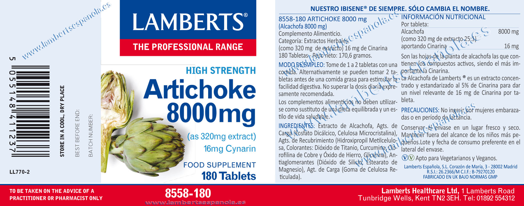 Alcachofa 8.000 mg