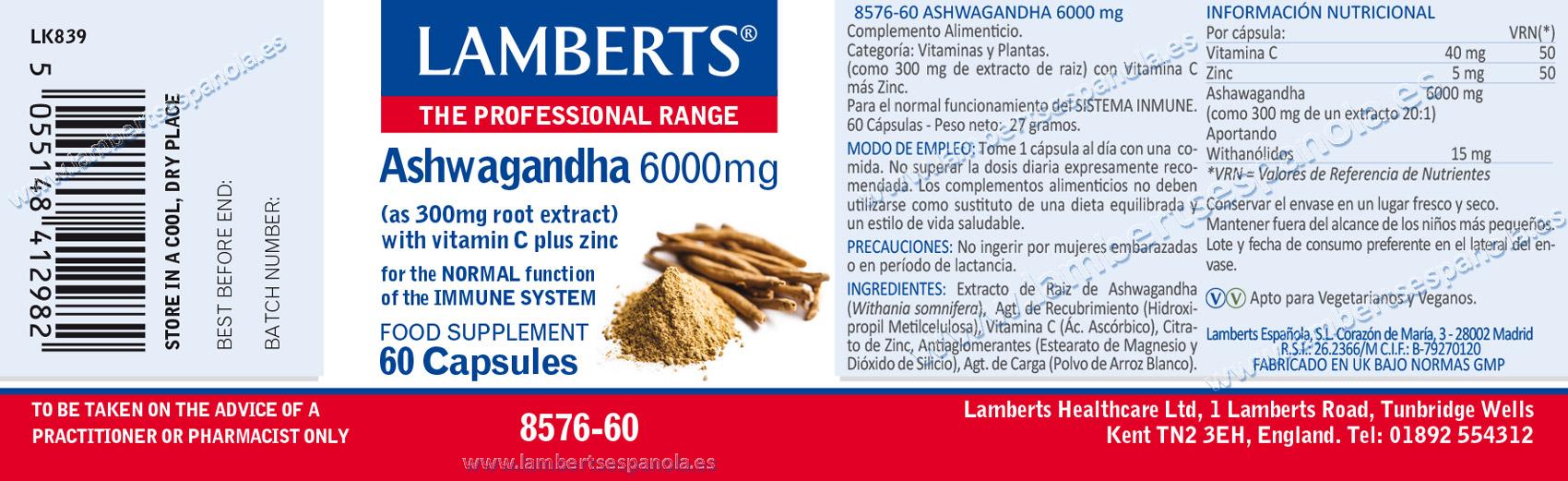 Ashwagandha lamberts