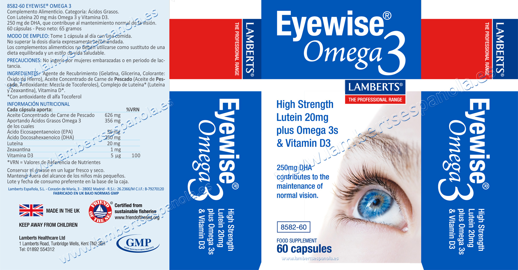 Eyewise con Omega 3 de Lamperts