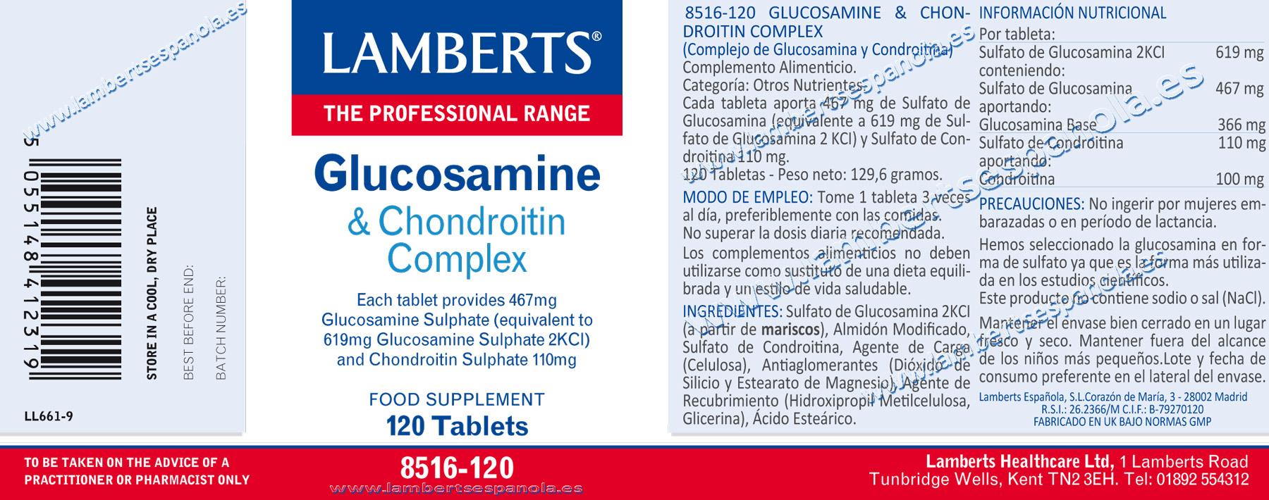Glucosamina y condroitina
