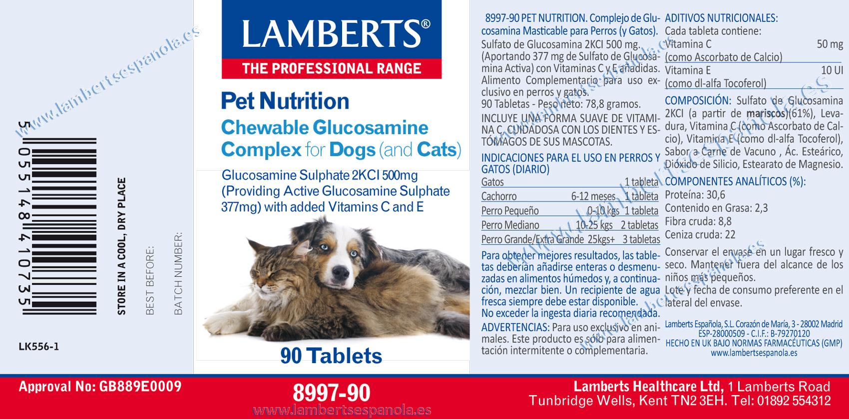Glucosamina masticable para perros