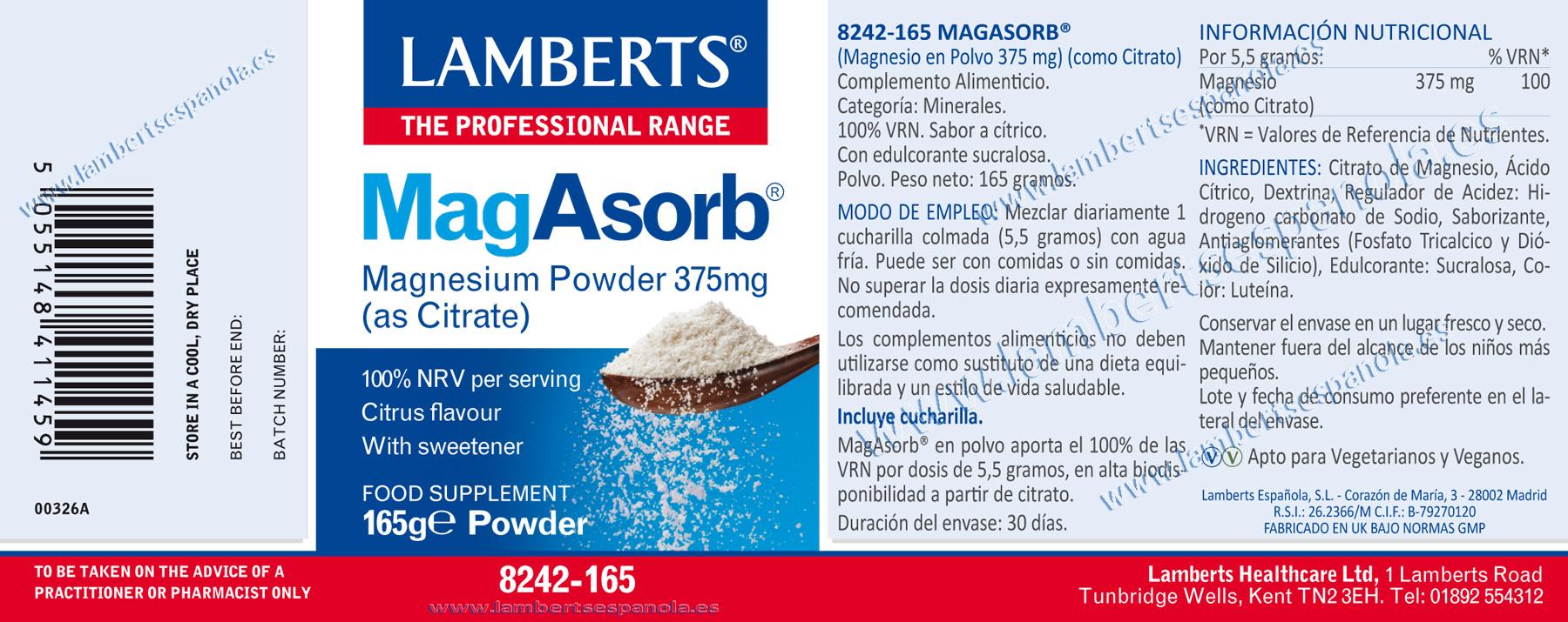 magnesio en polvo