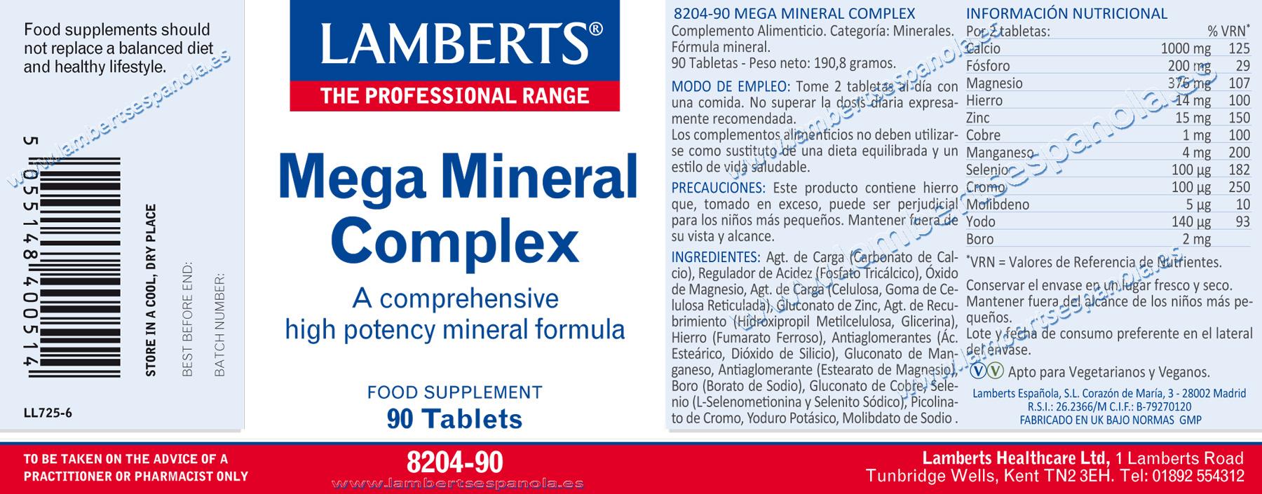 Megamineral Complex de Lamberts