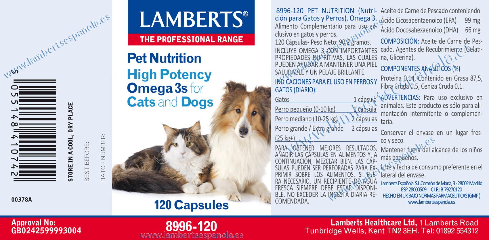 Omegas para gatos y perros