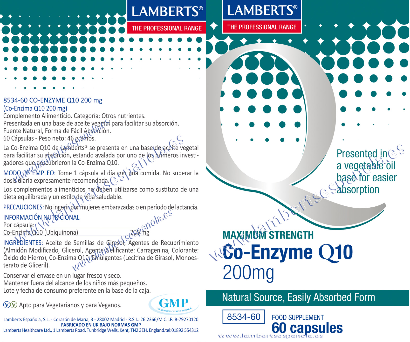 Co-enzima Q10 200 mg
