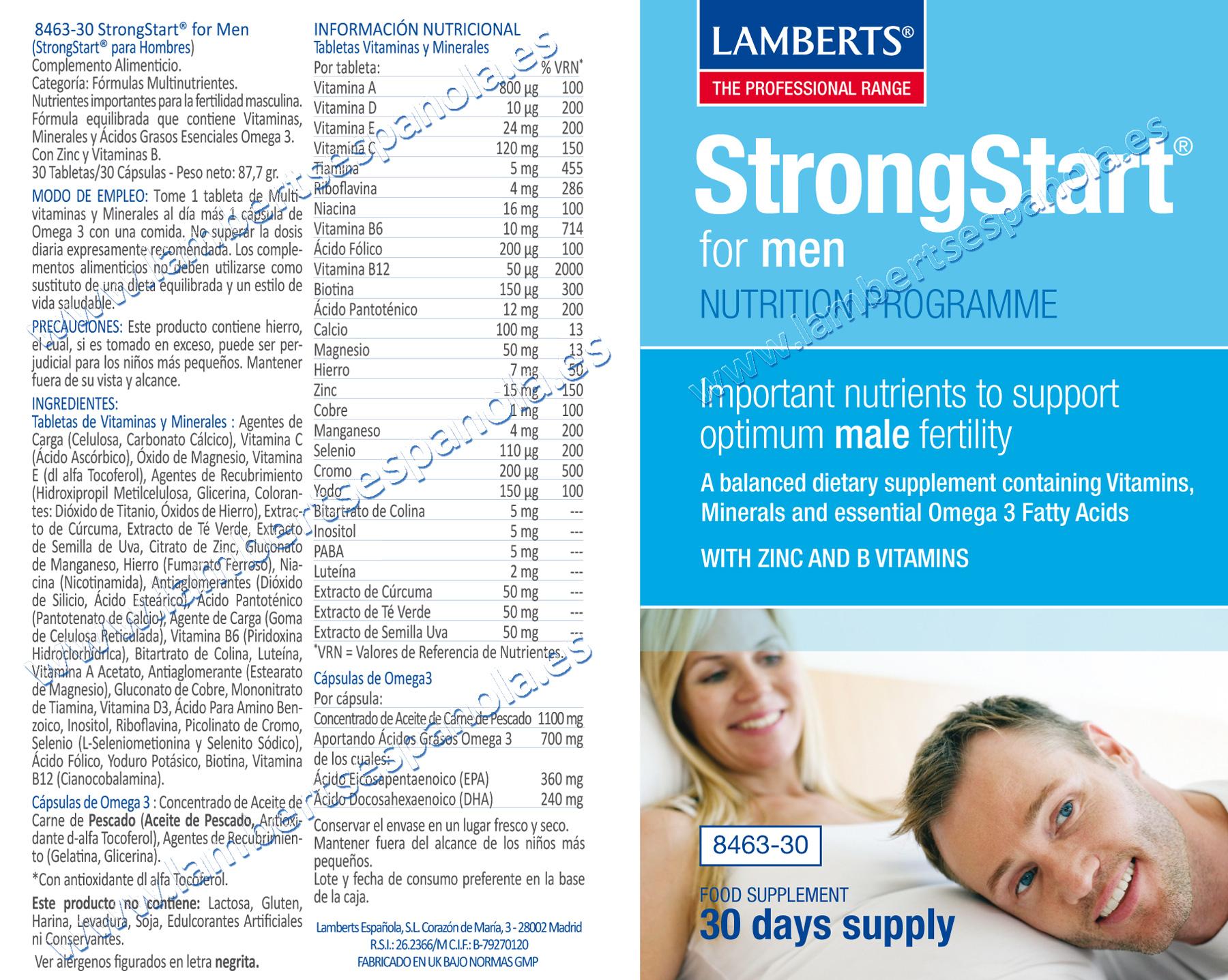 Start Strong for Men de Lamberts