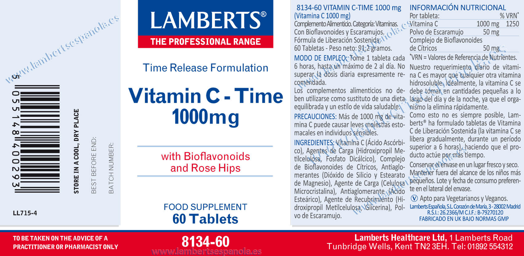 Vitamina C 1000 de liberación sostenida