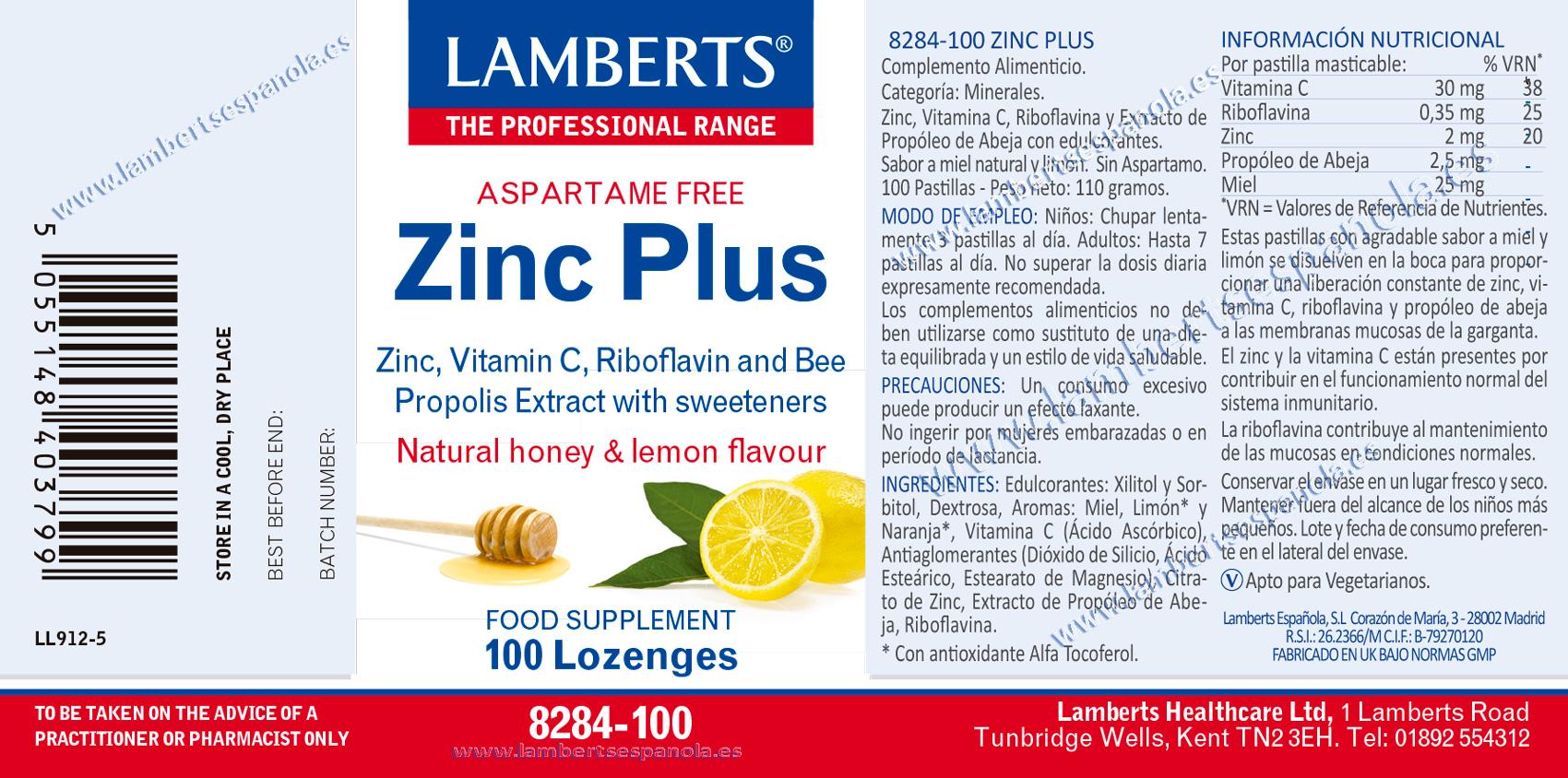 Zinc Plus con propóleos