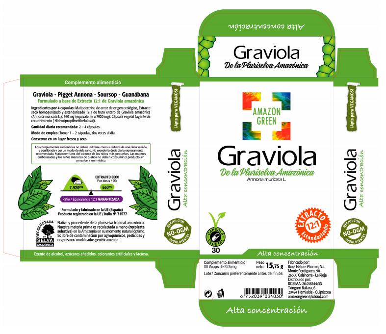 Graviola Amazon Green en caja