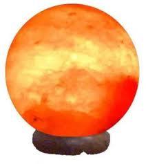 Lámpara de sal del Himalaya redonda