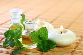 Aceite esencial de menta. Aromaterapia