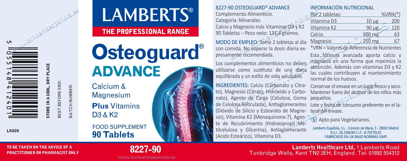 Osteoguard Advance de Lamberts