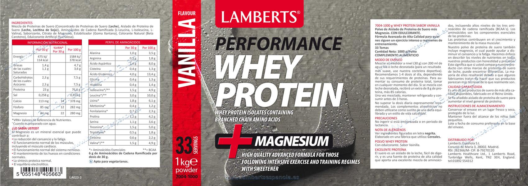 Proteína Whey Lamberts